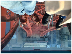 No Glass Ceiling (theimagebusiness) Tags: theimagebusinesscouk theimagebusiness photography westlothian blackpool lancashire england travel tourism touristattraction visitorattractions touring blackpooltower glassfloor noglassceiling victorian iron steel height scary vertigo feet shoes dontlookdown uphigh iphone cellphone