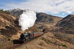 LMS Black 5 44871 'The Jacobite' Glenfinnan (anthonyian14) Tags: black 5 44871 glenfinnan viaduct jacobite highlands lms wcrc