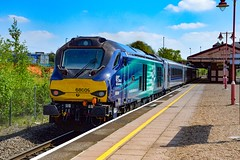 68009 + 82302 - Tyseley - 05/05/18. (TRphotography04) Tags: direct rail services drs 68009 titan on hire chiltern railways trails 1h35 1315 birmingham moor street london marylebone past tyseley dvt 82302 was leading