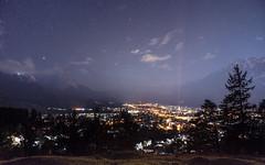 Garmisch-Partenkirchen at Night (redfurwolf) Tags: garmischpartenkirchen night nightsky nightphotography stars city trees mountains alps bavaria germany clouds sky landscape nature outdoor travel redfurwolf sonyalpha a7riii sony sonyimaging sonydeutschland sal2470f28za