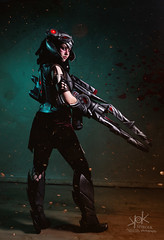 Fotocon 2017: Germia as Headhunter Caitlyn from League of Legends, by SpirosK photography (SpirosK photography) Tags: fotocon2017 germia headhuntercaitlyn caitlyn lol game videogame videogamecharacter fotoconbytechland fotoconbytechland2017 portrait leagueoflegends biggun gun rifle spiroskphotography
