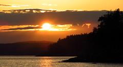 Stillwater Sundown (Dru!) Tags: pr powellriver sunset salishsea powell river savestillwaterbluffs ocean sea bc britishcolumbia canada orange cloud
