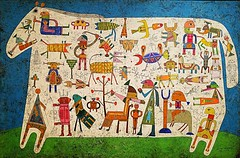 Victor Brauner (Romanian) 1903-1966,Prelude to A Civilization,encaustic,pen,and ink on Masonite (marcos2077) Tags: metropolitanmuseumofart victorbrauner