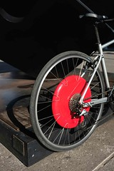 Copenhagen Wheel (Shu-Sin) Tags: copenhagen wheel electric assist bike bicycle mit design red hub giant marin fairfax motorized motor nyc new york city