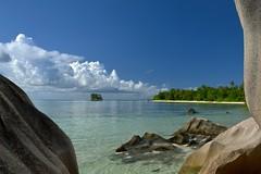 Dreams of Holidays (rosch2012) Tags: sky cloud wolke tree beach strand fels rock sand water ocean sea meer insel island seychelles holiday urlaub baden bath swim daylight tageslicht