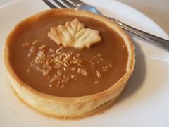 Enjoying a maple tart (canadianlookin) Tags: maple tart labellebaguette winnipeg bakery