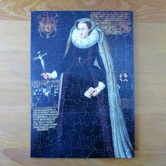 Mary, Queen of Scots (pefkosmad) Tags: wentworth wood wooden jigsaw puzzle hobby leisure pastime whimsies figurals maryqueenofscots art painting fineart portrait queen royalcollection complete secondhand used