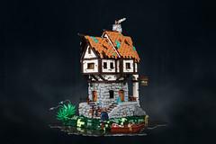 Green Fish Inn (Cesbrick) Tags: lego moc medieval fantasy castle inn cesbrick house hut swamp