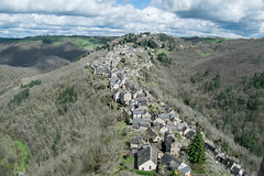 Views of Najac from the castle (Blacklili) Tags: france najac medieval town line bastide architecture landscape forest sky clouds
