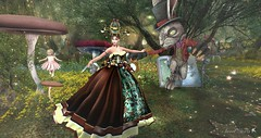 Virtual Trends: Happy Easter (Anaelah ~ Miss Virtual Diva ♛ 2018) Tags: irrisistible easter bunny anael anaelah fashion gown outdoors flowers eastereggs chocolate dance contrast child children cloth5 reflections sunny lights