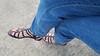 Maura (IPMT) Tags: toenail sexy toes polish foot feet stuart blue jeans pedicure painted weitzman zoya toenails pedi barefoot bright cherry red rojo gladiator vermelho caesar glossy finish gladiador gladiadores