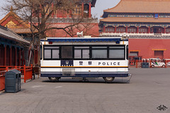 Police Bus at Forbidden City [explored] (janniswerner) Tags: asia asian beijing china chinese eastasia eastasian forbiddencity peking tiananmen tiananmensquare architectural architecture building buildings bus city cityscape day destination landmark lawenforcement outdoor outdoors outside palace police policevehicle public red square station street streetphotography surveillance travel traveldestination truck urban van vehicle beijingshi cn