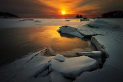 Broken ice (Jyrki Salmi) Tags: jyrki salmi mussalo kotka finland sunset snow ice