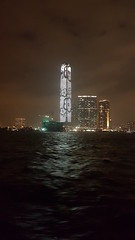 Victoria Harbour (Terry Hassan) Tags: hongkong 香港 victoriaharbour sea seafront water night dark harbour harbor skyscraper sky