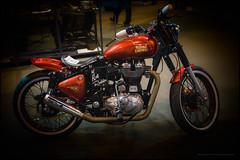 Lil' Hot Rodder (Explored) (G. Postlethwaite esq.) Tags: birmingham lilhotrodder nec royalenfield sonya7mkii motorcycleshow photoborder 500 cc paralleltwin