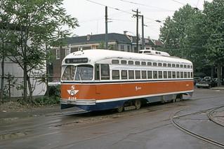 US PA Philadelphia SEPTA PCC 2186 8-1983 c Rt 6 12th-Luzerne