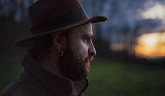 Yannik (M.Boubou) Tags: face men sunset look france mountain trek colors earring beard hat