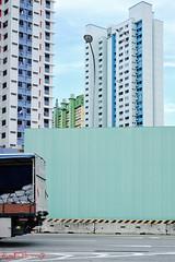 High Rise Apartments - Singapore (Kent Johnson) Tags: 1000adjcesef1808 singapore apartments publichousing colourblocking architecture minimalisim fujifilmxt1 xf35mmf14r travel asia pattern