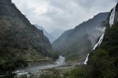 Jung Falls - Tawang valley (mala singh) Tags: mountains clouds valley river waterfalls landscape arunachalpradesh india