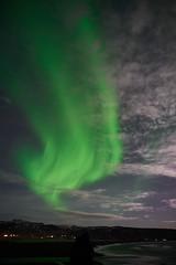 Kirkjufjara_aurora_L1090449 (nocklebeast) Tags: auroraborealis iceland kirkjufjarabeach nrd aurora stars ocean beach vik southcoast