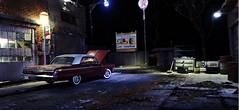 Texaco Garage (gpholtz) Tags: diorama miniatures 118 diecast 1964 chevrolet impala