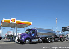 Leathers Fuels Kenworth T880, Truck# 93 (Michael Cereghino (Avsfan118)) Tags: leathers fuel fuels oil company kenworth kw t880 daycab tank wagon tanker truck trucking semi