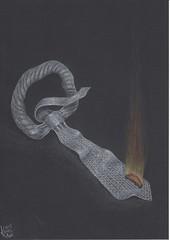 Freedom ! (Klaas van den Burg) Tags: fire neck tie color pencil humor sarcasm