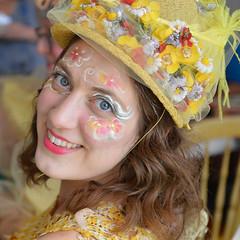 A starry eyed StarDanceSwan dancer (radargeek) Tags: paseodistrict paseoartsfestival 2018 may oklahomacity okc oklahoma stardanceswan paperplaytheatre theatreuponastardanceswan facepaint