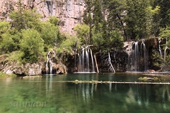 Reflection doesn't always lead to clarity (saiyyam arts) Tags: hanging lake colorado river riverbed outdoors denver vail trees waterfall reflection green water flowing satin mountain mountains hill hilly region trail hike hiking mile workout effort worth it