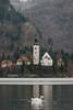 Swan Lake (andronyit) Tags: slovenia landscape travel alps mountains pletna bled lake lakebled spring mountain