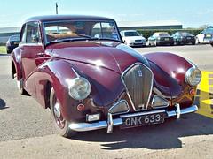 267 Healey Tickford (1952) (robertknight16) Tags: healey british 1950s silverstone tickford vscc onk633