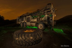 Mars Xplorer II (bodyaristarco) Tags: xplorer night nikond750 tokina1628 fotografíanocturna longexposure lightpainting cementeriodechatarra mineria minas