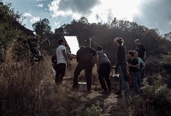 Rodaje Phaenicia (alejandroaz) Tags: shortfilm short film moscas phaenicia flies country grass plants sky sunset clouds boom crew cinema cine movies