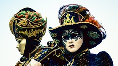 Duo masques de Venise (YᗩSᗰIᘉᗴ HᗴᘉS +17 000 000 thx) Tags: duo two mask masque masquedevenise annevoie hensyasmine namur belgium europa aaa namuroise look photo friends be wow yasminehens interest intersting eu fr greatphotographers lanamuroise tellmeastory flickering