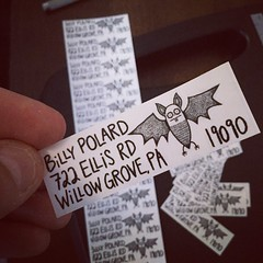 Shipping labels (the ghost in you) Tags: mail goth gothic bat horror