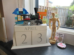Monday, 23rd, St George's Day IMG_6883 (tomylees) Tags: lego engine calendar perpetual essex morning spring april 2018 23rd monday