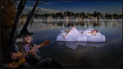 Dream Baby Dream (Bruce Springsteen) (trevager) Tags: ad360 bed brightpixphotography composite copyrighttrevorager dreambabydream dreambabydreamgirlmodel floating godox guitar kamel karen lake model offcameraflash petersfield photoshop pond redhair redhead scc serene sleeping songtitle strobist sublime