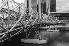 Double Helix Bridge, Singapore (Chicago_Tim) Tags: double helix pedestrian bridge metal tube singapore marinabay marina