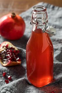 Homemade Sweet Red Pomegranate Grenadine Syrup