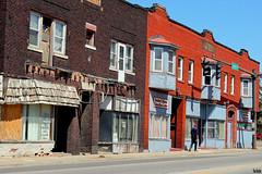 Lonely Street (Thom Sheridan) Tags: thomsheridan east cleveland 2018 superior ave avenue city urban blight ohio