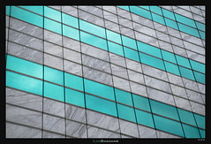 Turquoise on Marble (Ilan Shacham) Tags: abstract architecture building lines perspective texture repetition shape form grid beauty marble turquoise fineart fineartphotography geometry meriadeck bordeaux france