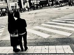 shibuya. night. (framingthestreets) Tags: streetphotography japan kamakura kamakurabeach shinjuku shibuya blackandwhite daidomoriyama streetart nightlife moment moments reality reallife hardlife iphone iphonex photo