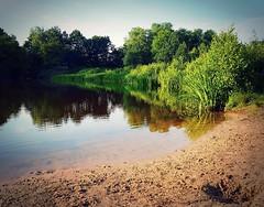 Heinis lake, 8.30 pm (marionvankempen) Tags: atmosphere eveninglight light evening throughherlens heinis