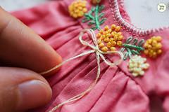 Handmade Embroidered Dresses (Ylang Garden) Tags: blythe dress handmade embroidery embroidered