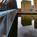 LAGAN RAILWAY BRIDGE IN BELFAST [ALSO A PEDESTRIAN BRIDGE]-140397