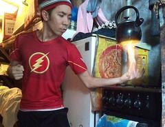 Flame On (Jimcen Bagsik) Tags: art photography philippines dumaguetecity dumagetme photoshop adobephotoshop photomanipulation digitalart jimcenbagsik jimcen cooking fire flame hot theflash shirt
