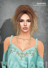 New Sabrina hair @ Uber! (Wasabi // Hair Store) Tags: wasabipills 3d mesh hair secondlife zenith maitreya randommatter izzies catwa league kibitz