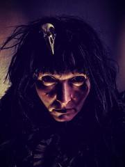 21. Crow was angry (emifly) Tags: portrait selfie selfportrait crow alterego lowkey shadows skull