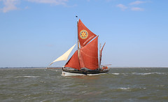 Sail Boat (Andy.Gocher) Tags: andygocher canon100d uk essex sea shipping forecast area thames red sails sky water