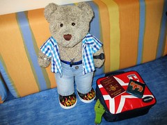 Time to go back 'ome... 51/51 (pefkosmad) Tags: tedricstudmuffin teddy ted bear holiday holibobs animal cute toy cuddly soft stuffed fluffy plush pefkos pefki pefkoi rhodes rodos greece greekislands griechenland hellas stellahotel